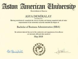 Aston-American-University-isletme-Yonetimi-Lisansi-(BA)-Diplomasi