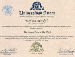 Azteca-University-Egitim-Bilimleri-Doktorasi-Diplomasi