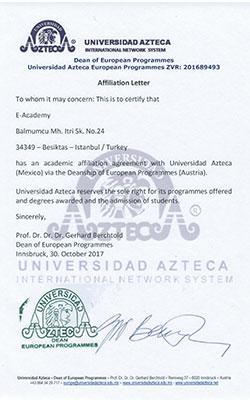 Azteca-University-Temsilcilik-Sertifikasi